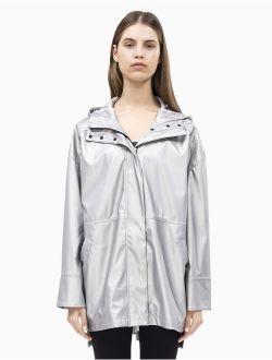 Women's Hi Lo Hooded Rain Slicker