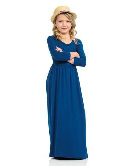 Pastel by Vivienne Honey Vanilla Girls' Fit and Flare Maxi Dress with Easy Removable Label