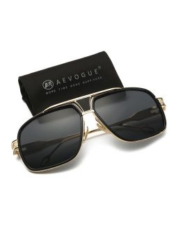 AEVOGUE Sunglasses For Men Goggle Alloy Frame Brand Designer AE0336