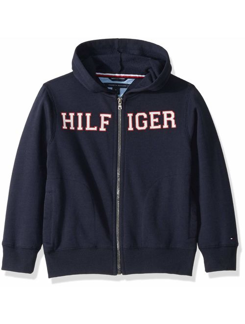Tommy Hilfiger Boys' Long Sleeve Matt Logo Zip Up Hoodie