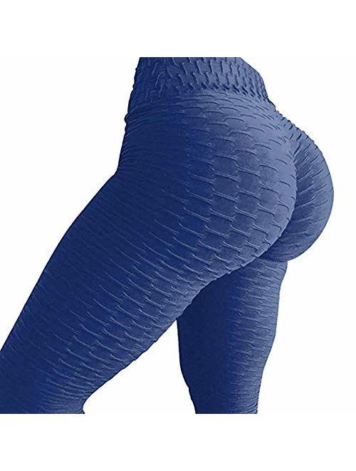 SEASUM Women's High Waist Tummy Control Yoga Pants Slimming Booty Leggings Workout Running Butt Lift Tights