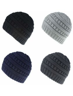 Guozyun Baby Boy's Beanie Hats Cotton Skull Caps for Baby Toddlers Kids Little Boys 6-60 Months 5-Pack