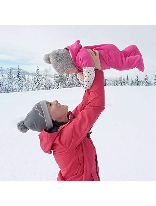 JAN & JUL Baby Toddler Winter Beanie Bear Hat Earflap Fleece Lined, Knit Mittens or Hat & Mittens Set