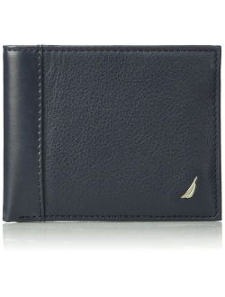 Men's Milled Leather Passcase Wallet