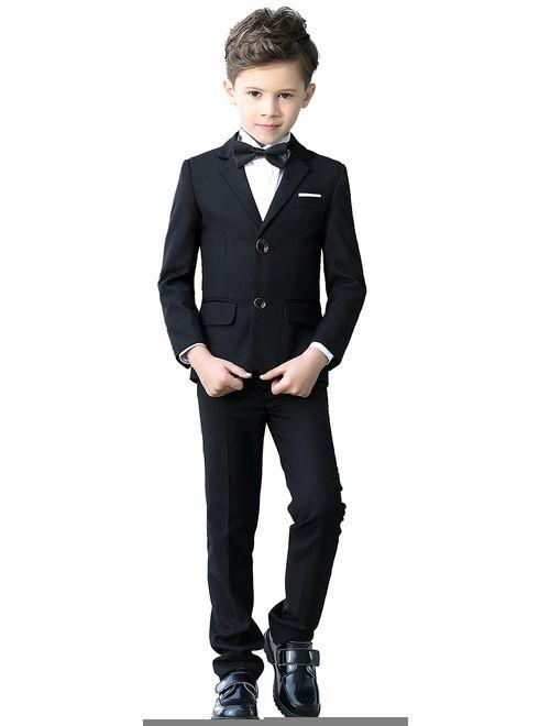 YuanLu Boys Colorful Formal Suits 5 Piece Slim Fit Dresswear Suit Set