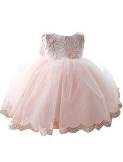 Girls' Tulle Flower Princess Wedding Dress For Toddler And Baby Girl