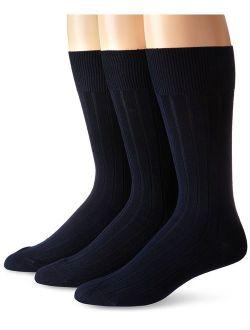 Men's Cotton Rich Dress Socks (pack Of Three)