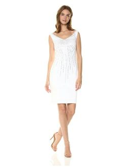 Women's Off The Shoulder Sheath With Embellishment Dress