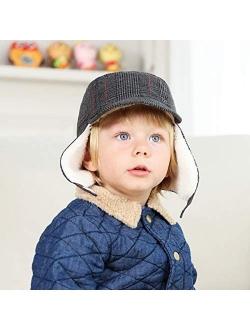Keepersheep Baby Boy Ushanka Earflap Winter Trooper Hat Cap, Kids Trapper Hat