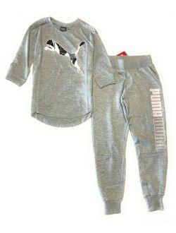 Big Girls' 2-pcs Set Jogger Pants And T-shirt