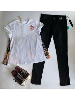Wt 2pc Bts Fall Outfit Diesel Tibet Top + Joe's Jeans Black Jeggings 14 16