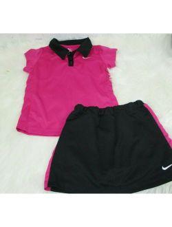 Girls Outfit 2 Piece Shirt Skirt Size 6x