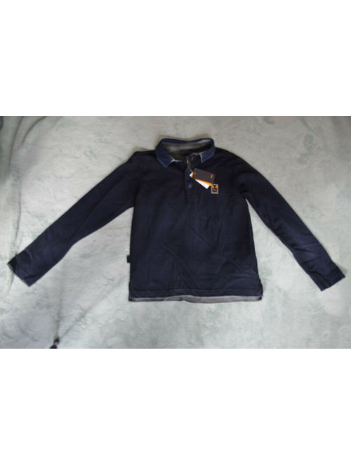 New Authentic Fendi boy's Black Grey Polo Shirt and Pants Set (Size 6)