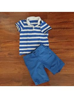 Boys Short Sleeve Polo Shirt & Shorts Outfit 7y