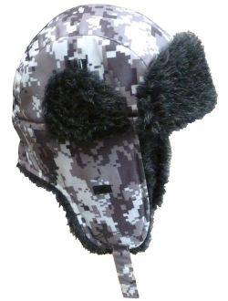 N'Ice Caps Big and Little Boys and Baby Taslon Trapper Winter Hat with Large Flaps