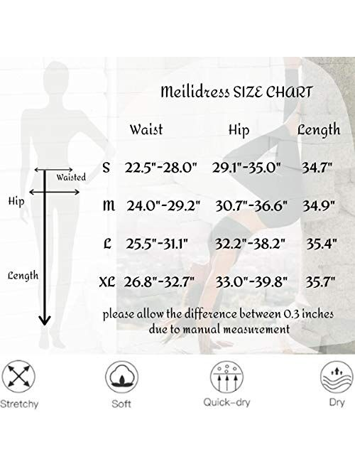 Meilidress Ruched Butt Lifting High Waist Tummy Control Compression Leggings Workout Sport Tummy Control Gym Yoga Pants