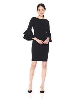 Women's Tiered Bell Sleeve Dress
