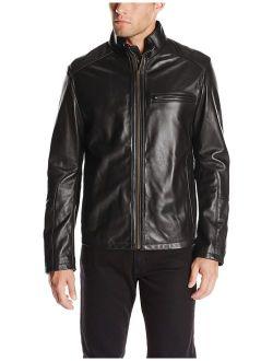 Men's Smooth Leather Moto Jacket
