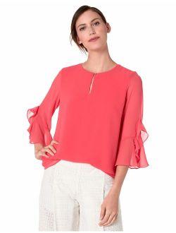 Women's Ruffle Sleeve Blouse