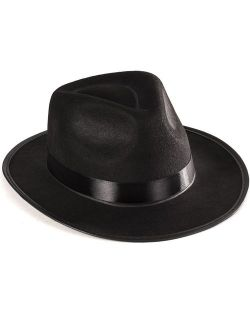 Funny Party Hats Black Gangster Hat - Black Fedora Hats - Costume Hats - Costume Accessories
