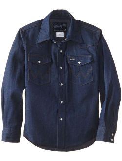 Boys' Western Solid Snap Shirt
