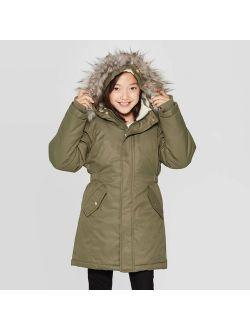 X Fur Hooded Parka Jacket - Cat & Jack™ Green