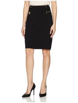 Women's Pencil Skirt With Hardware