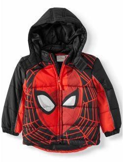Marvel Spider-Man Toddler Boy Winter Jacket Coat