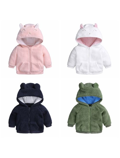 AMSKY❤ Preemie Baby Clothes Boy,Children Girl Boys Baby Winter Warm Coats Jacket Zipper Thick Hoodie Outerwear
