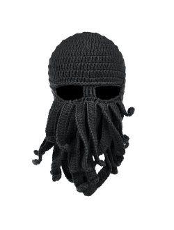 Beard Hat Beanie Hat Knit Hat Winter Warm Octopus Hat Windproof Funny For Men & Women