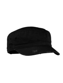 District Threads Distressed Military Style Twill Hat