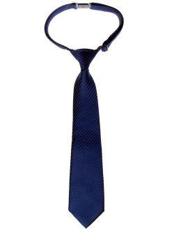 Retreez Solid Matte Color Woven Microfiber Pre-tied Boys Bow Tie
