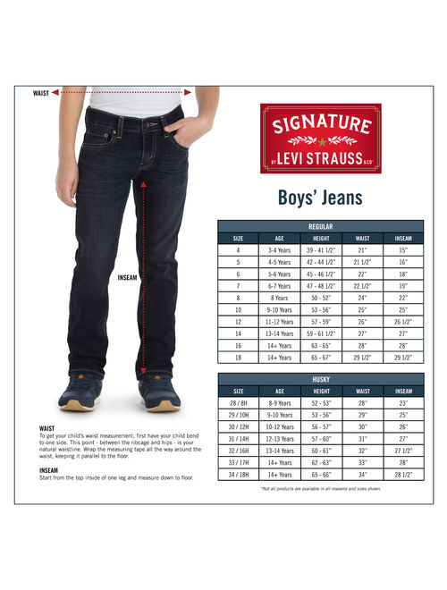 Signature by Levi Strauss & Co. Athletic Fit Jeans (Little Boys & Big Boys)
