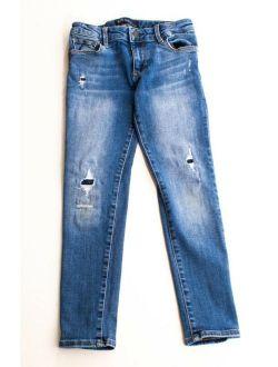 Kids Stretch Super Skinny Distressed Denim Jeans Size 7 Regular