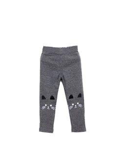MarinaVida 3-7 Year Toddler Kids Winter Warm Thick Cartoon Leggings Girls Long Pants