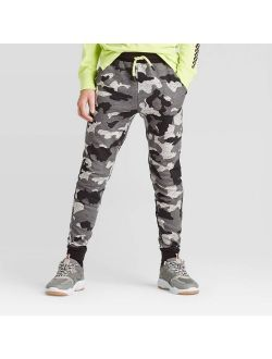 Boys' Camo Knit Jogger Pants - art class Gray