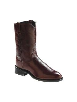Old West Men's 10 Inch Roper Toe Cowboy Boots