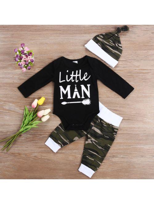3pcs Newborn Infant Baby DADDY/'S Girl T-shirt Tops+Pants Leggings Clothes Set