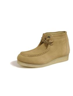 Roper Western Shoes Mens Lace Up Suede Wide Tan 09-020-0606-8320 TA