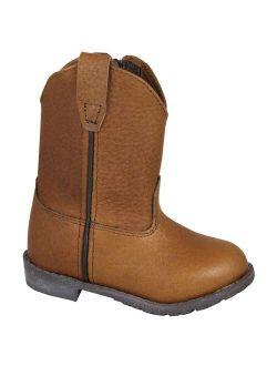smoky mountain boys' jackson leather wellington western boot round toe brown 4 d(m) us