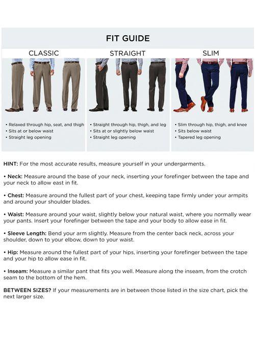 Haggar Men/'s Premium No Iron Khaki Flat Front Pant Straight Fit HC10889