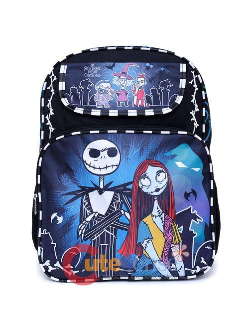 Nightmare Before Christmas Jack & Sally Skellington 16 Backpack Color