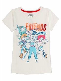Toy Story Bo Peep And Friends Glitter Graphic T-shirt (little Girls & Big Girls)