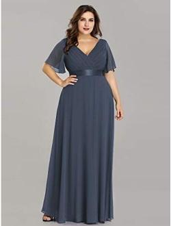 Womens Chiffon Long Formal Evening Dresses For Women 98902 Burgundy Us4