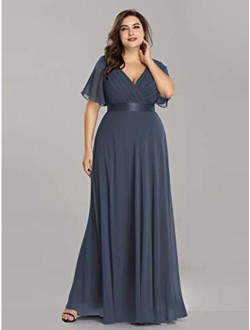 Ever-Pretty Womens Chiffon Long Formal Evening Dresses for Women 98902 Burgundy US4