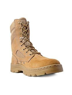 """Ridge Footwear 3208 Men's Dura-Max 8"""" Suede Leather Coyote Tactical Boots"""