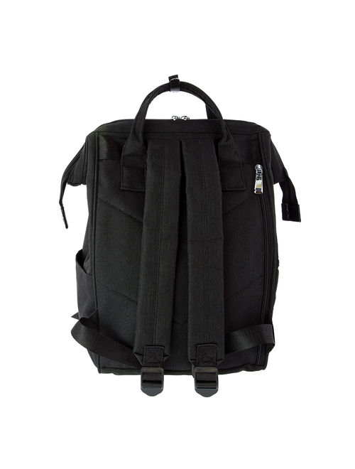 5th Elm Double Zipper Backpack for Back to School - Black