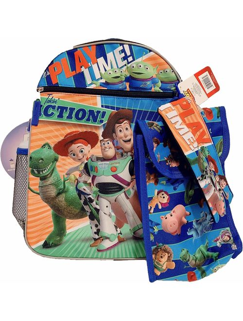 Disney Toy Story 5 Piece Backpack Water Bottle Accessory Set
