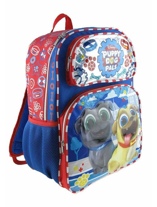 """Disney's Puppy Dog Pals 12"""" Toddler Size Backpack - Paw Prints"""