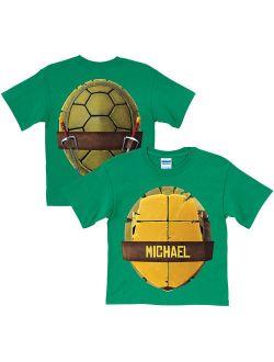 Personalized Teenage Mutant Ninja Turtles Turtle Shell Toddler Green T-Shirt